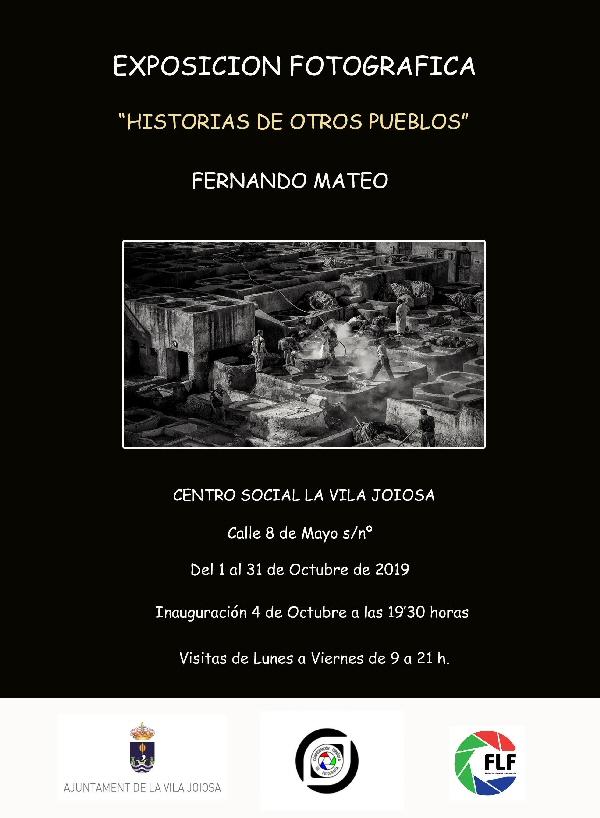 EXPOSICIÓN DE NUESTRO SOCIO FERNANDO MATEO
